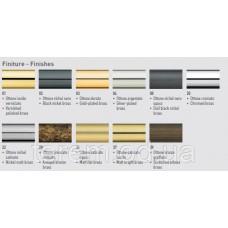 Карниз латунь, наконечник мрамор черный, красный, белый, диаметр 35, 30, 20