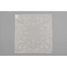 Салфетка Рождественская MYB хлопковая Madras 50х50см серебро 10200К-1