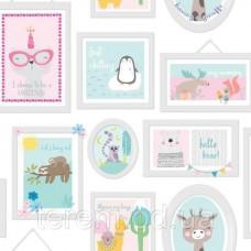 Animal Frames Teal_Pink