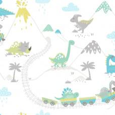 Dino Town Teal