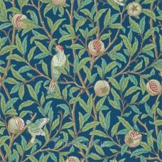 Bird & Pomegranate Blue/Sage