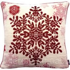 Подушка гобеленовая Art de Lys Большая красная снежинка 50x50