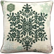 Подушка гобеленовая Art de Lys Большая зеленая снежинка 50х50