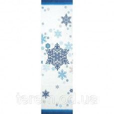 """Скатерть - дорожка """"Синие снежинки"""""""