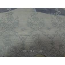 Тюль классический с вышивкой и  кантом внизу, 290 см, Турция.