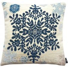 Подушка гобеленовая Art de Lys Большая синяя снежинка 50x50