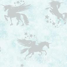 Iridescent Unicorns Teal_Silver