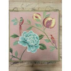 Гобеленовая картина Art de Lys Fleurs oiseaux bleus 50x50  без подкладки