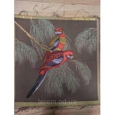 Гобеленовая картина Art de Lys 2 Perroquets rouges  50x50  без подкладки