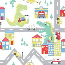 Dino Road White_Multi
