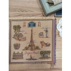 Гобеленовая картина Art de Lys Bonjour Paris  25x25  без подкладки